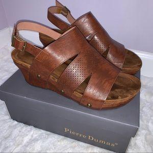 Pierre Dumas Wedge Sandal Shoe size 10